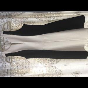 Cream and Black Adelyn Rae Dress Medium